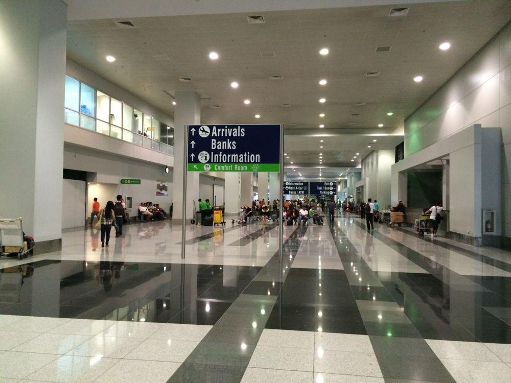 真夜中のマニラ空港