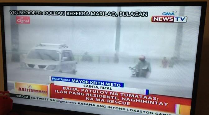 台風でマニラは洪水、私の部屋は雨漏り…。いろいろ日本と違うので驚きを隠せません。