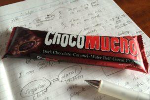 ティーチャーから貰ったチョコバーで英語の勉強頑張った