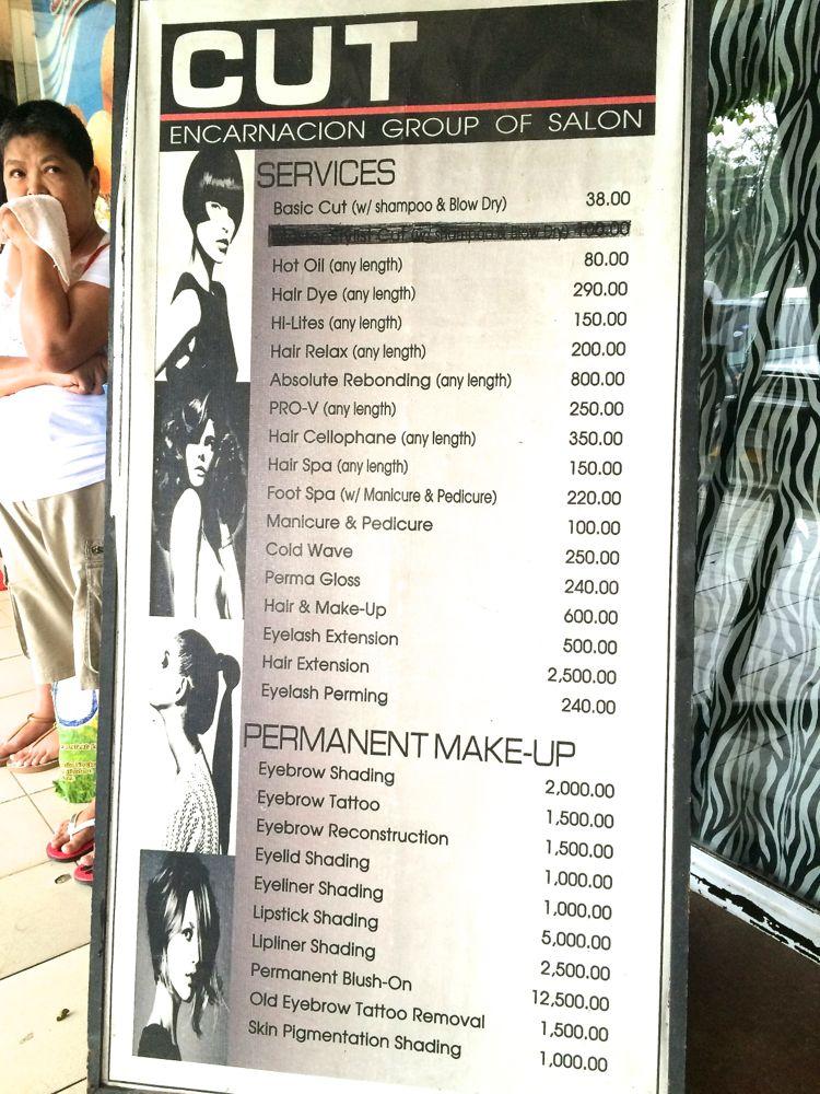 カット料金がビックリするくらい安い