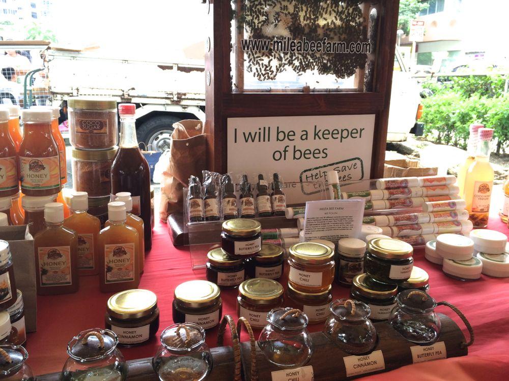 天然のハチミツを使ったジャムが売られていました