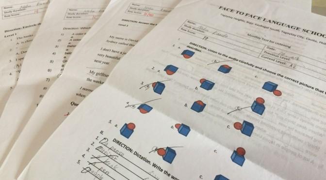 英語レベルチェックテストの結果に成果が出て嬉しい!