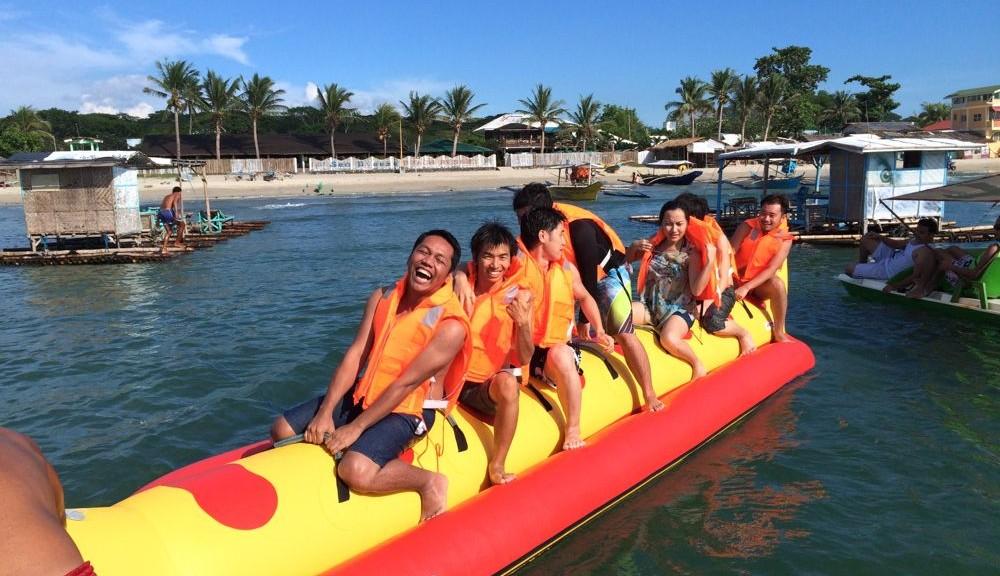 バナナボートにも乗りました