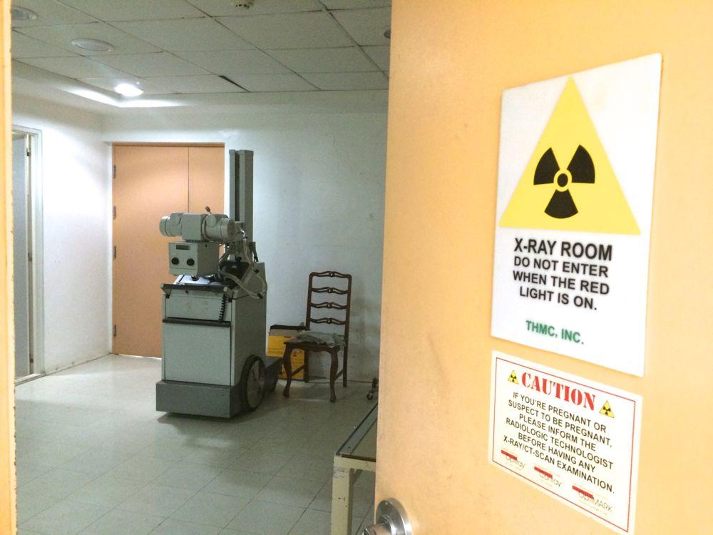 レントゲン室はちょっと日本と違うね