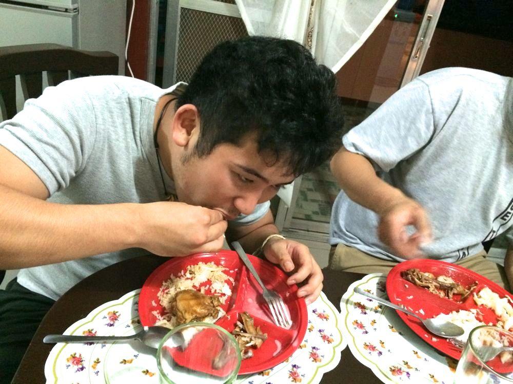 カマヤンスタイルで食べるまっちゃん