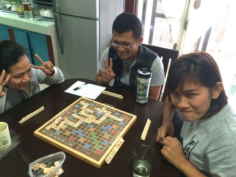 scrabbleというゲーム、文字を作り点数を稼げるゲーム