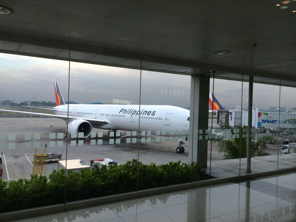マニラ空港にてフィリピン航空で日本に帰ります